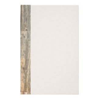 Rustic wood design customized stationery