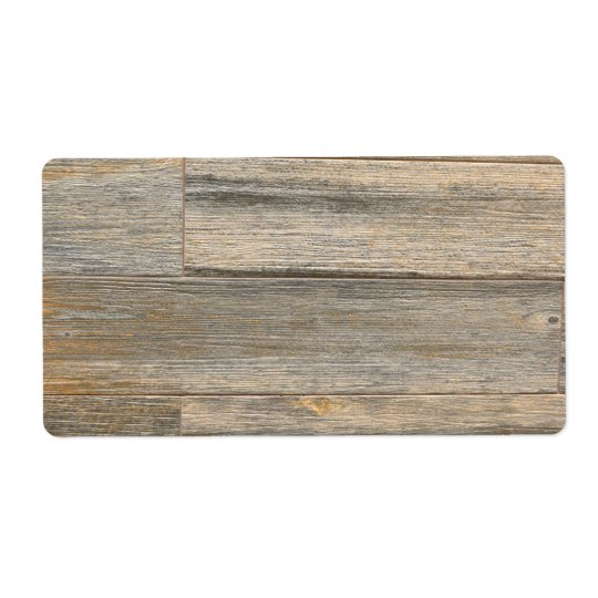 Rustic wood design shipping label