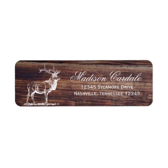 Rustic Wood Elk Wildlife Address Labels