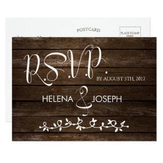 Rustic Wood Faith Reply Postcard