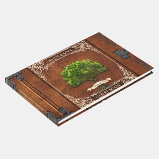 Rustic Wood Family Tree Guest Book