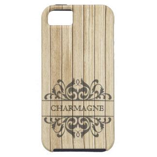 Rustic Wood Filigree Designer | blonde chalkboard iPhone 5 Cases