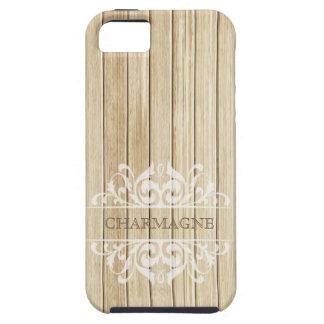 Rustic Wood Filigree Designer | blonde white iPhone 5 Covers