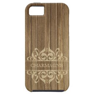 Rustic Wood Filigree Designer | brown tan iPhone 5 Cover