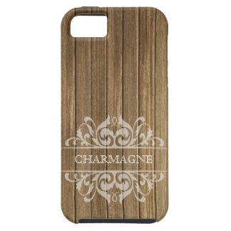 Rustic Wood Filigree Designer | brown white iPhone 5 Cases