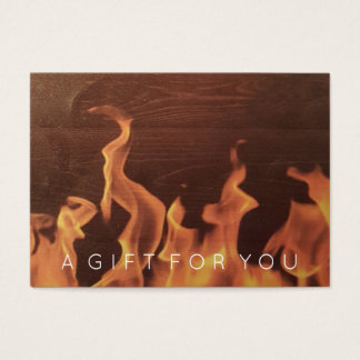 Rustic Wood Fire   Restaurant Gift Certificate