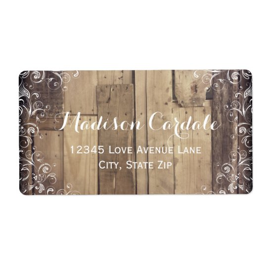 Rustic Wood Flourish Country Address Labels