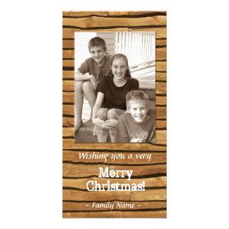Rustic Wood Frame Photo Christmas Card Photo Card Template