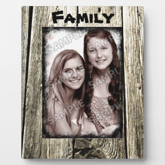 Rustic Wood Frame Your Family Photo and Text