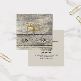 Rustic Wood Gold Gift Card Certificate
