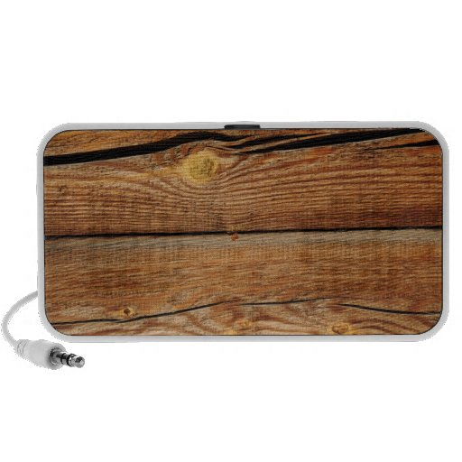 Rustic Wood Grain Boards Design Country Gifts Mp3 Speakers