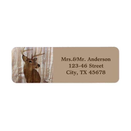 rustic wood grain deer the hunt is over wedding