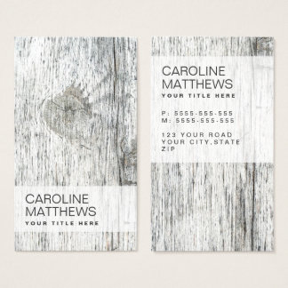 Rustic wood grain modern business card