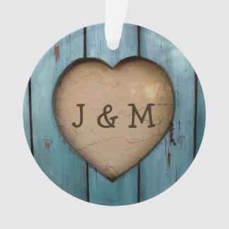 Rustic Wood Heart Custom Year Initial Favor