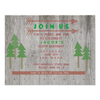 Rustic Wood Invitation