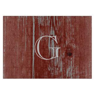 Rustic Wood Look | Personalized Monogram Cutting Board