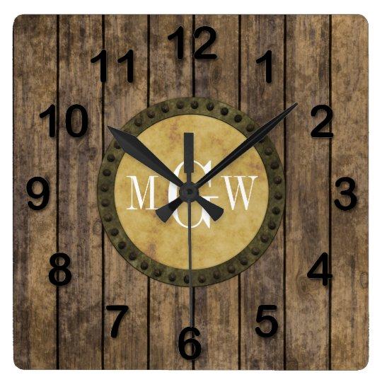 steunk style square wall clock zazzle co uk