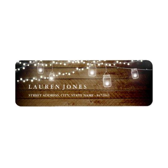 Rustic Wood Mason Jar Address Labels