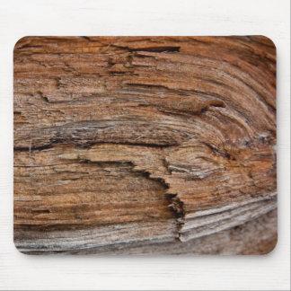 Rustic wood mouse mat