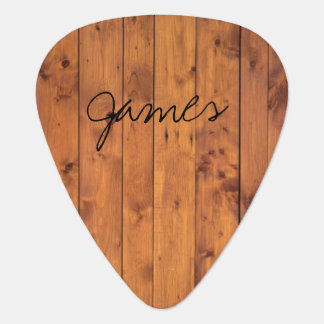 Rustic Wood Name Plectrum