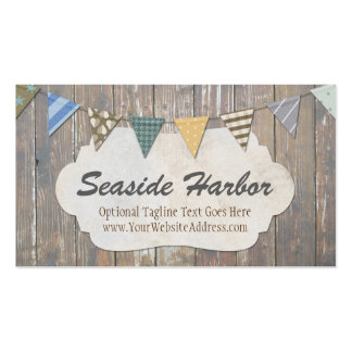 Rustic Wood Nautical Bunting - Seaside Harbor Pack Of Standard Business Cards