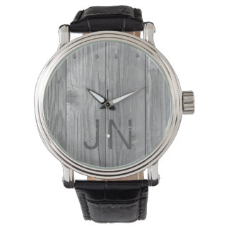 Rustic Wood Personalized Men's Watch