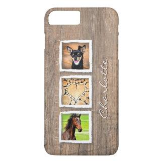 Rustic Wood Photo Collage Custom iPhone 8 Plus/7 Plus Case
