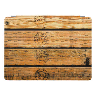 """Rustic Wood Planks Stamped with """"Made in USA"""" iPad Pro Cover"""