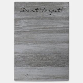 Rustic Wood Post it Notes