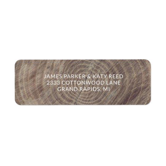 Rustic wood return address labels