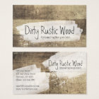 Rustic Wood Shabby Grunge Vintage Painted Boards Business Card