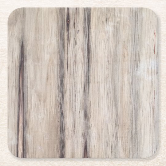 Rustic Wood Square Paper Coaster