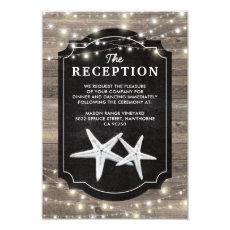 Rustic Wood Starfish Wedding Reception