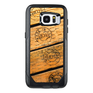 """Rustic Wood Stripes Stamped with """"Made in USA"""" OtterBox Samsung Galaxy S7 Edge Case"""