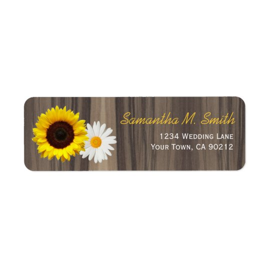 Rustic Wood Sunflower and Daisy