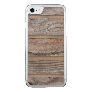 Rustic Wood Texture Pattern Carved iPhone 8/7 Case