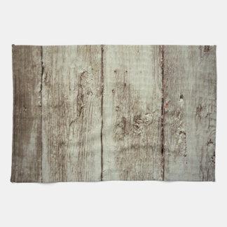 Rustic Wood Texture Tea Towel