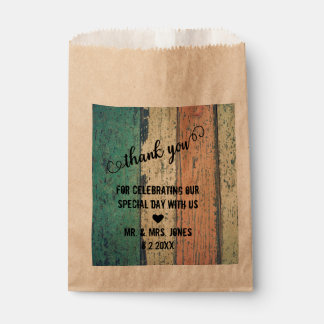 Rustic Wood Thank You Favour Bags