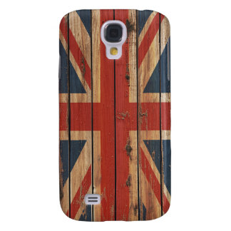 Rustic Wood United Kingdom Flag Galaxy S4 Case