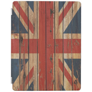 Rustic Wood United Kingdom Flag iPad Cover