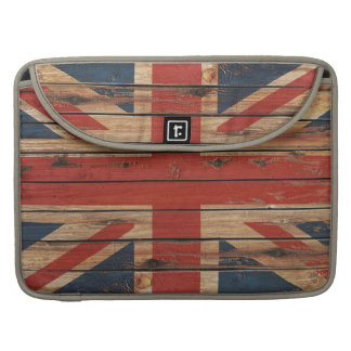 Rustic Wood United Kingdom Flag Sleeve For MacBooks