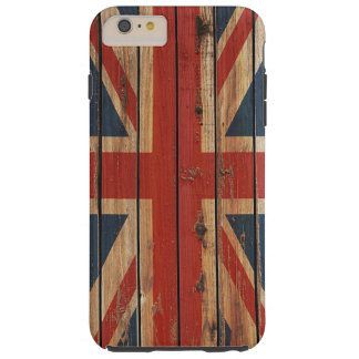 Rustic Wood United Kingdom Flag Tough iPhone 6 Plus Case