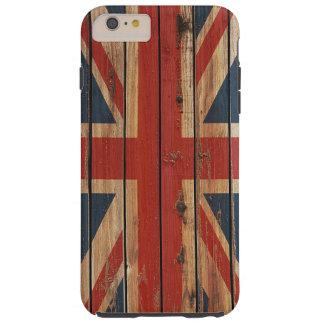 Rustic Wood United Kingdom Flag Tough iPhone 6 Plus Case