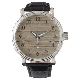 Rustic Wood Watch