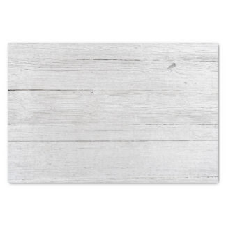 Rustic Wood Weathered Silver Barn Boards Wedding Tissue Paper