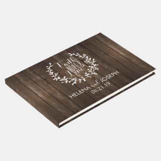 Rustic Wood Wedding Guestbook
