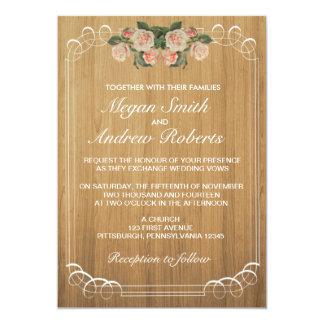 Rustic Wood Wedding Invitation