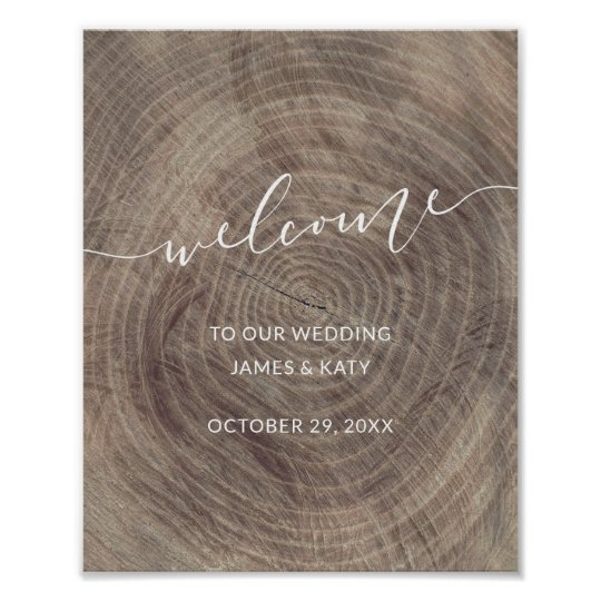 Rustic wood wedding welcome sign | Wedding poster