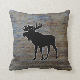 Rustic Wood Western | Moose Animal Cushion