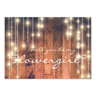 Rustic Wood | Will you be my Flowergirl Card